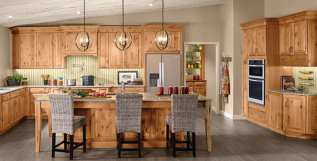 Rustic Alder Kitchen In Natural Kraftmaid