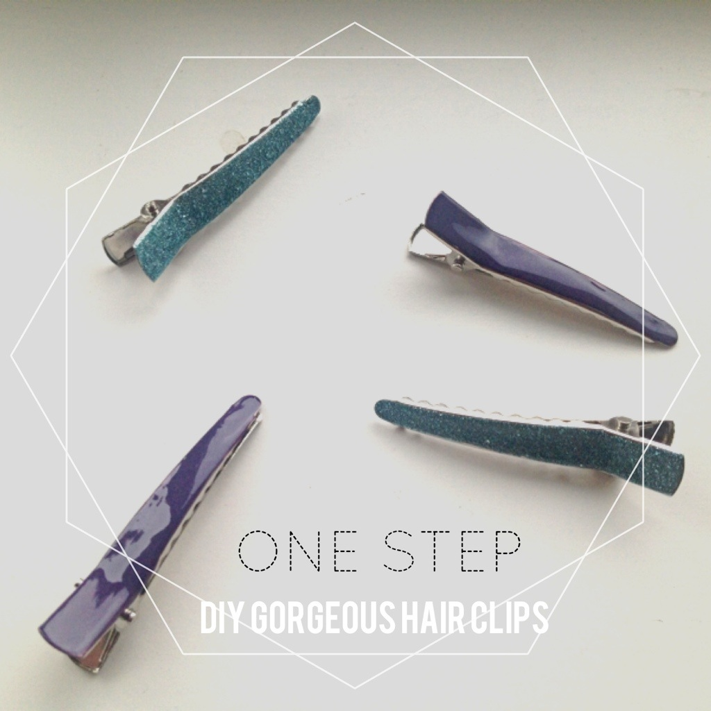 DIY 1 Step Hair Clips with nail polish