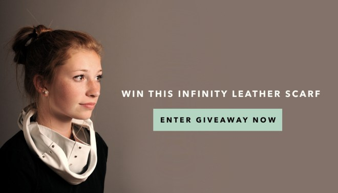 GIVEAWAY! Win this infinity leather scarf by kraft&mint via @darbysmart