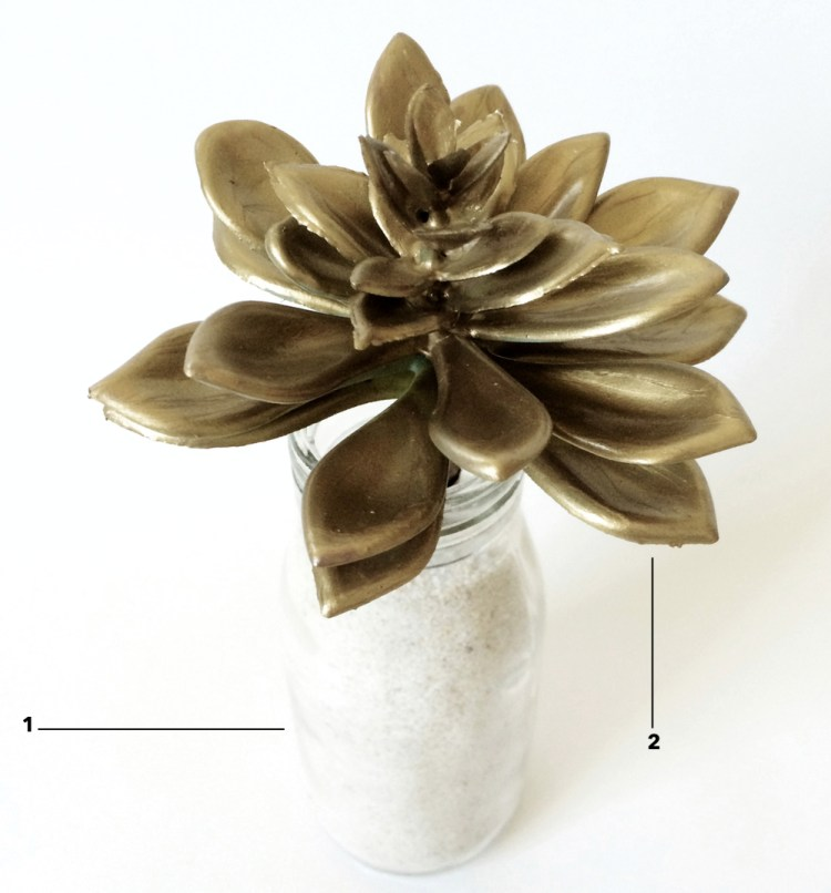 kraft&mint DIY Golden Succulents Tutorial