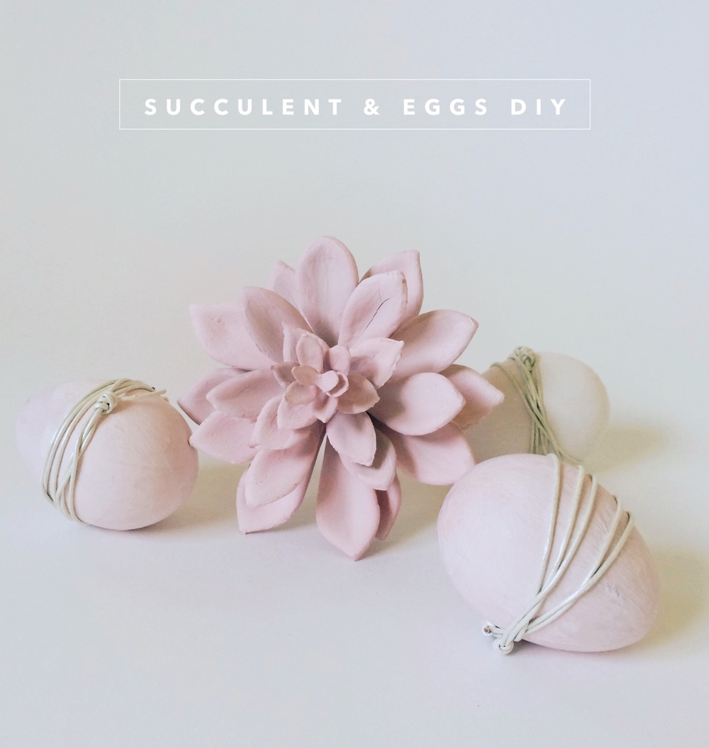 DIY Easter eggs & succulent decor
