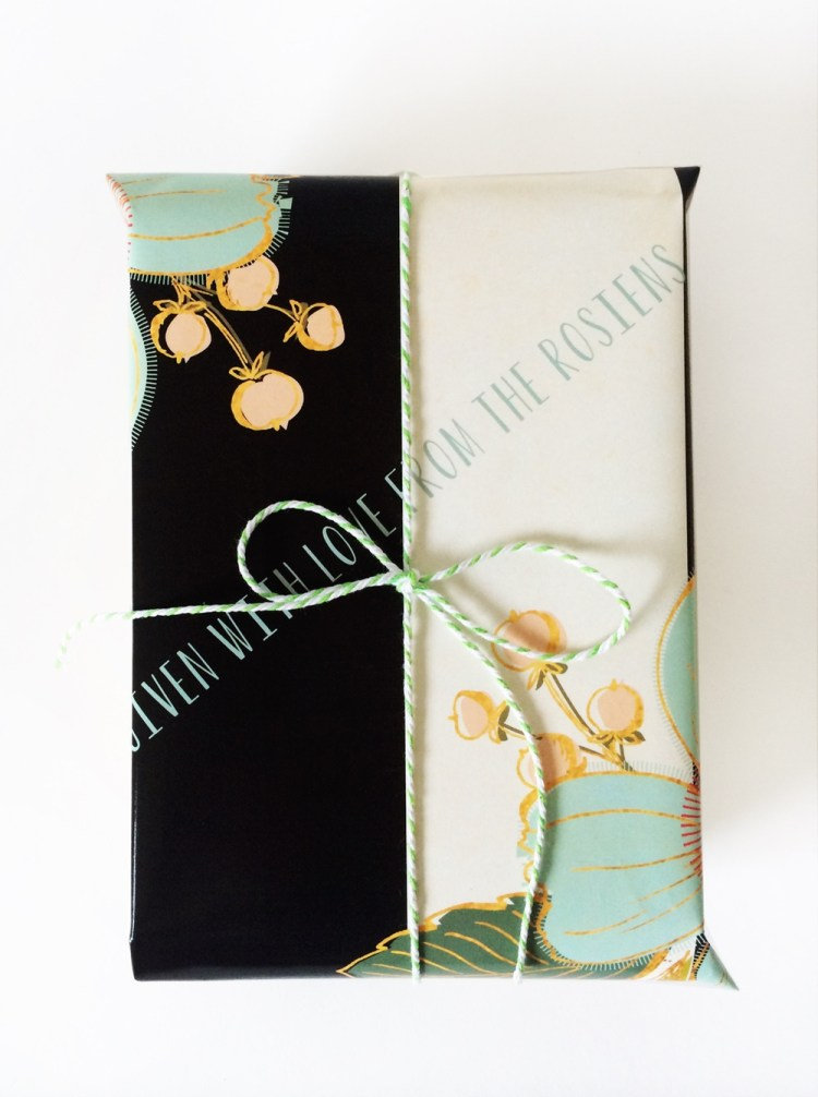 Personalized gift wrap kraft&mint tinyprints