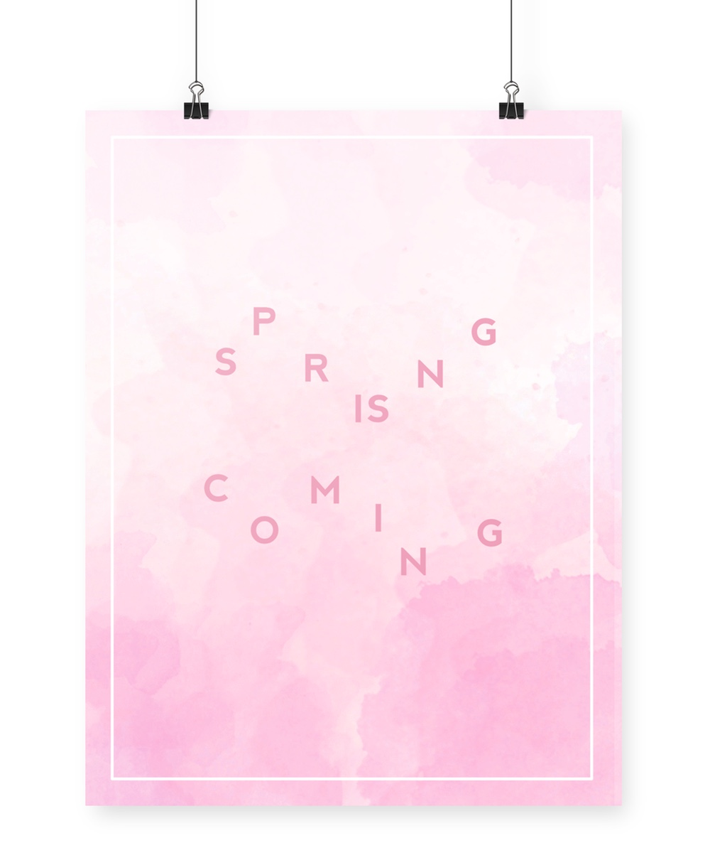 Spring is coming | printable download
