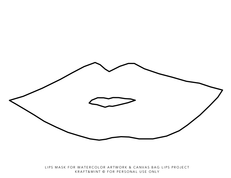 graphic relating to Lip Stencil Printable referred to as Daily life Crafts - Die Reducing Template - Lips. Lips
