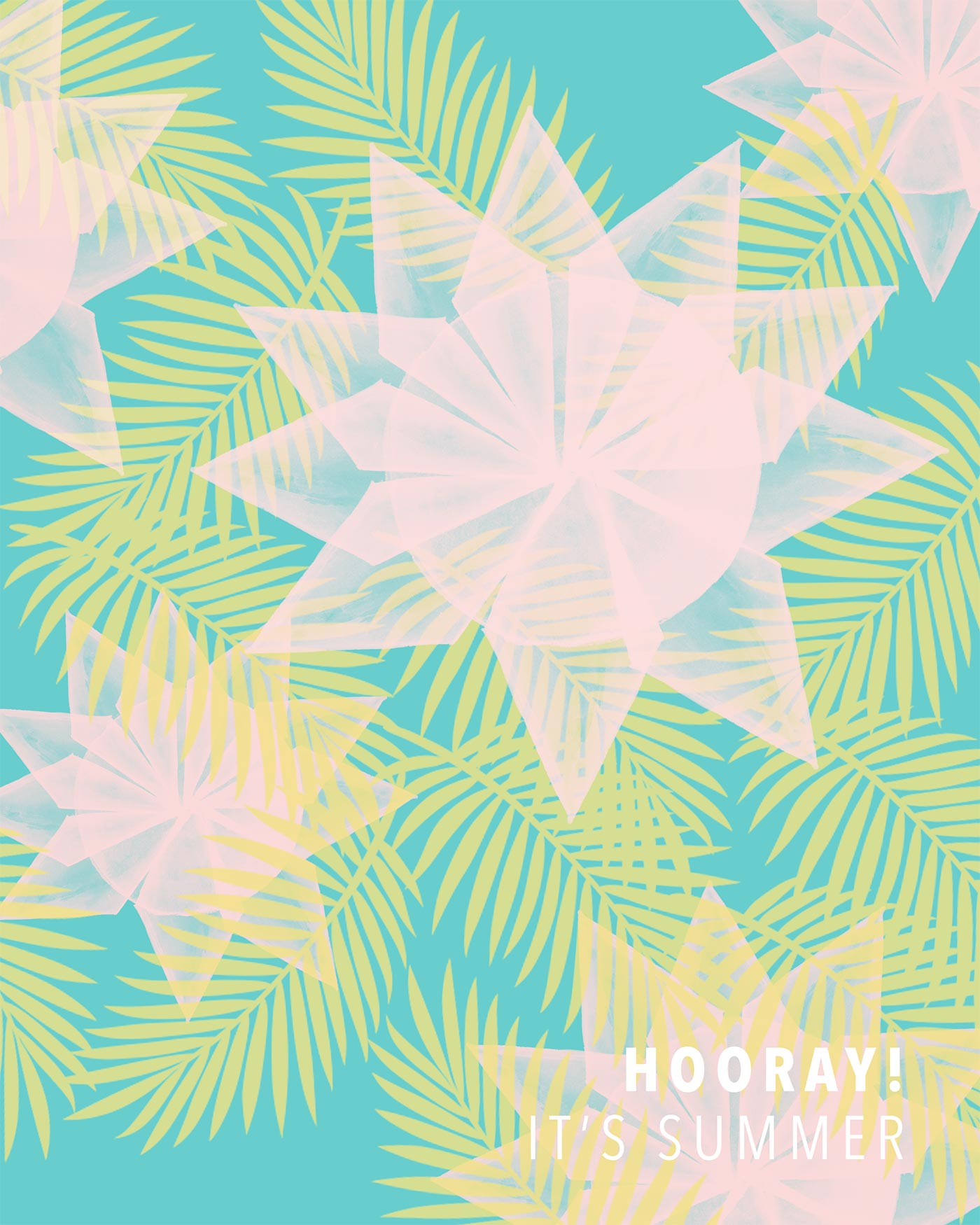 Tropical Artwork Hooray It 39s Summer Tropical Artwork Kraft Andmint