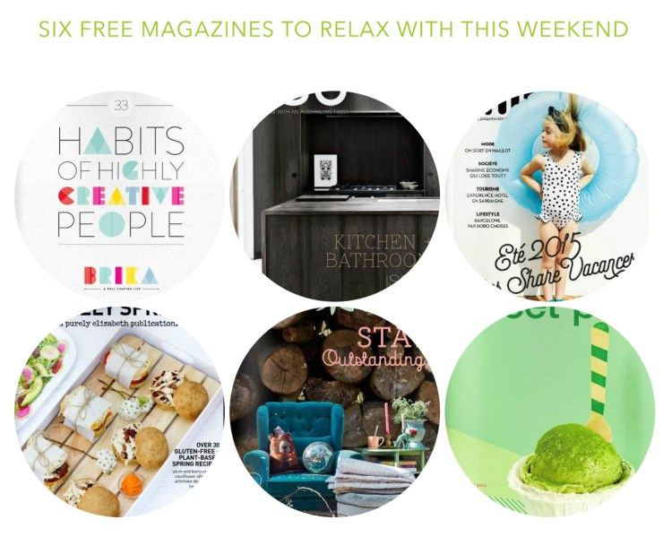 Six free magazines in digital format - blog post by kraft&mint
