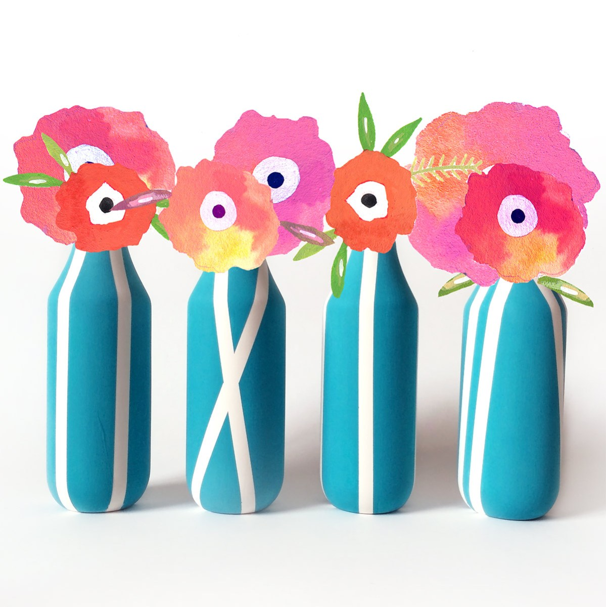 Make a Set of Flowers Vases