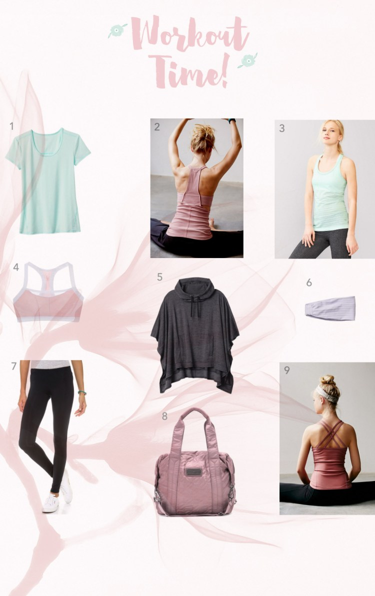 It is workout time kraft&mint workout clothes picks