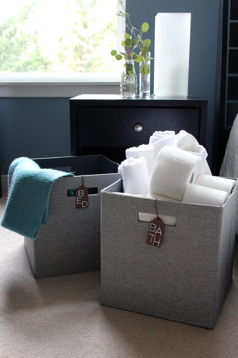 Get ready for out of town guests - DIY Welcome Basket