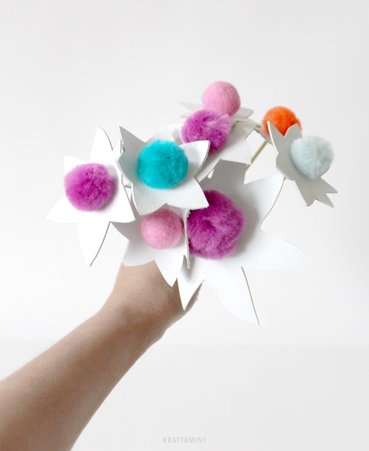 Think Happy - DIY Pom Flowers by kraft&mint