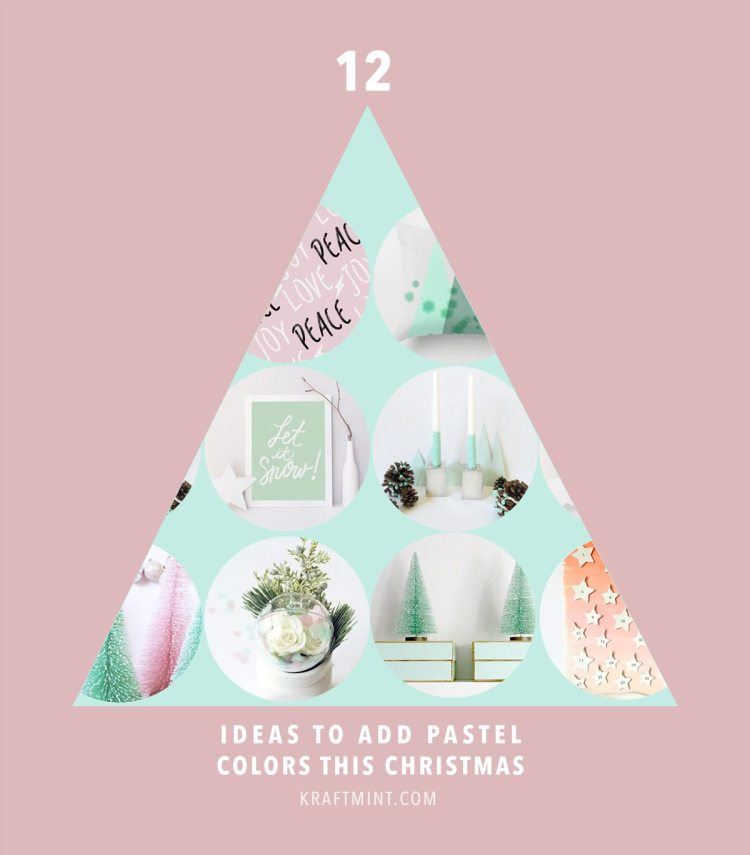 12 ideas to add pastel colors this Christmas