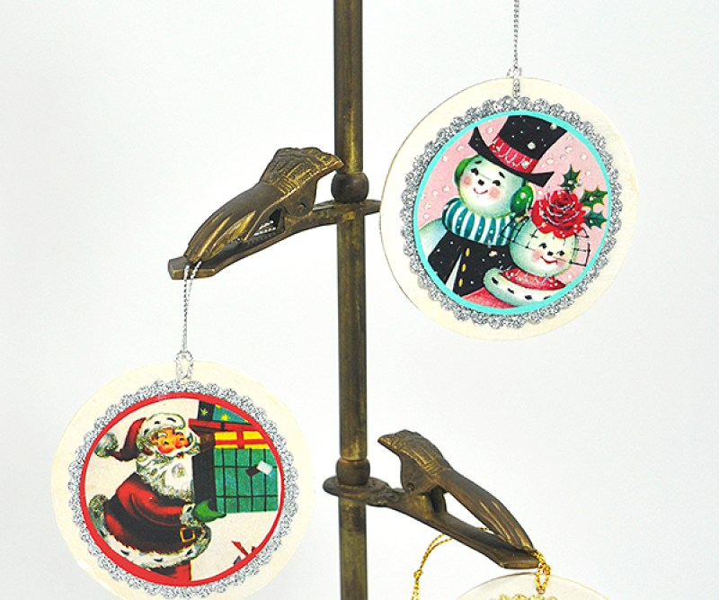 Vintage card ornament