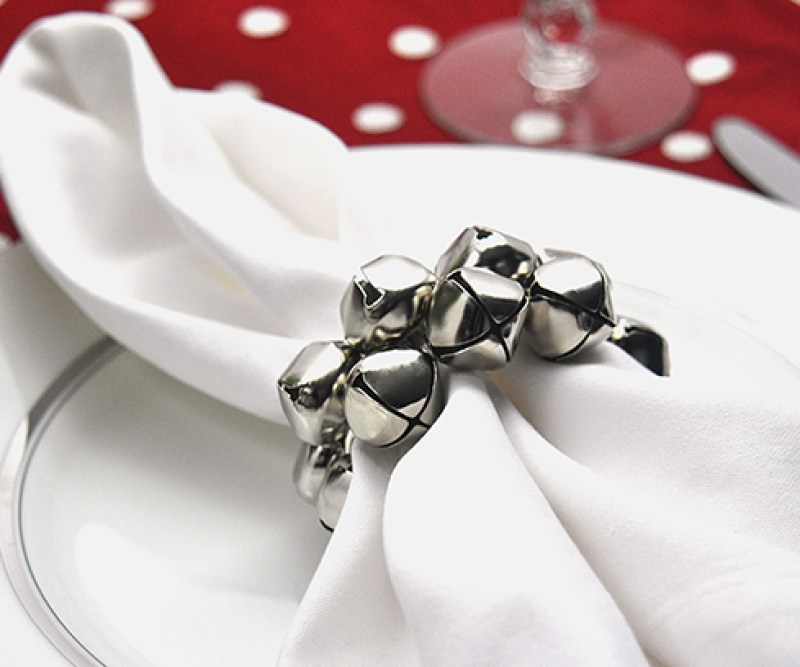 Jingle bell napkin ring