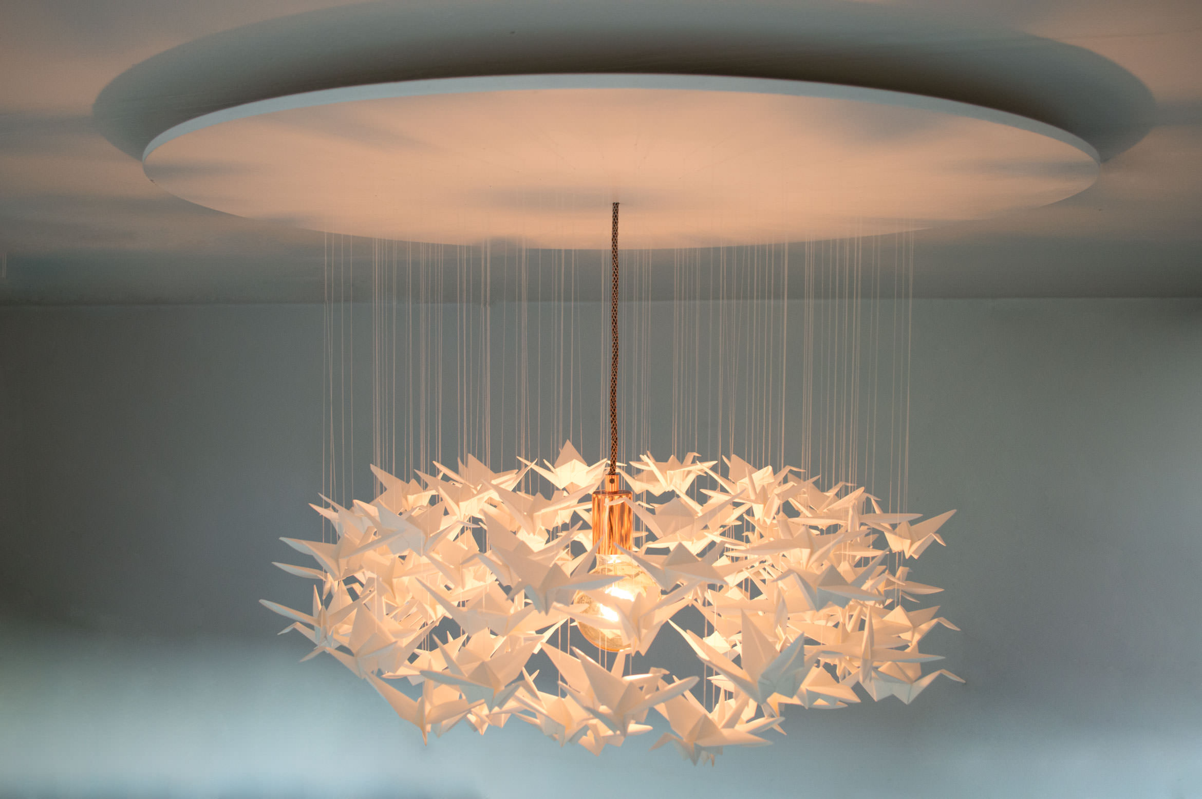 Origami Lampenschirm Kranichlampe Light Up Your Life