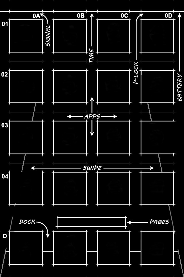 Iphone X Blueprint Wallpaper Two More Excellent Grid Style Iphone Ios 4 Wallpapers