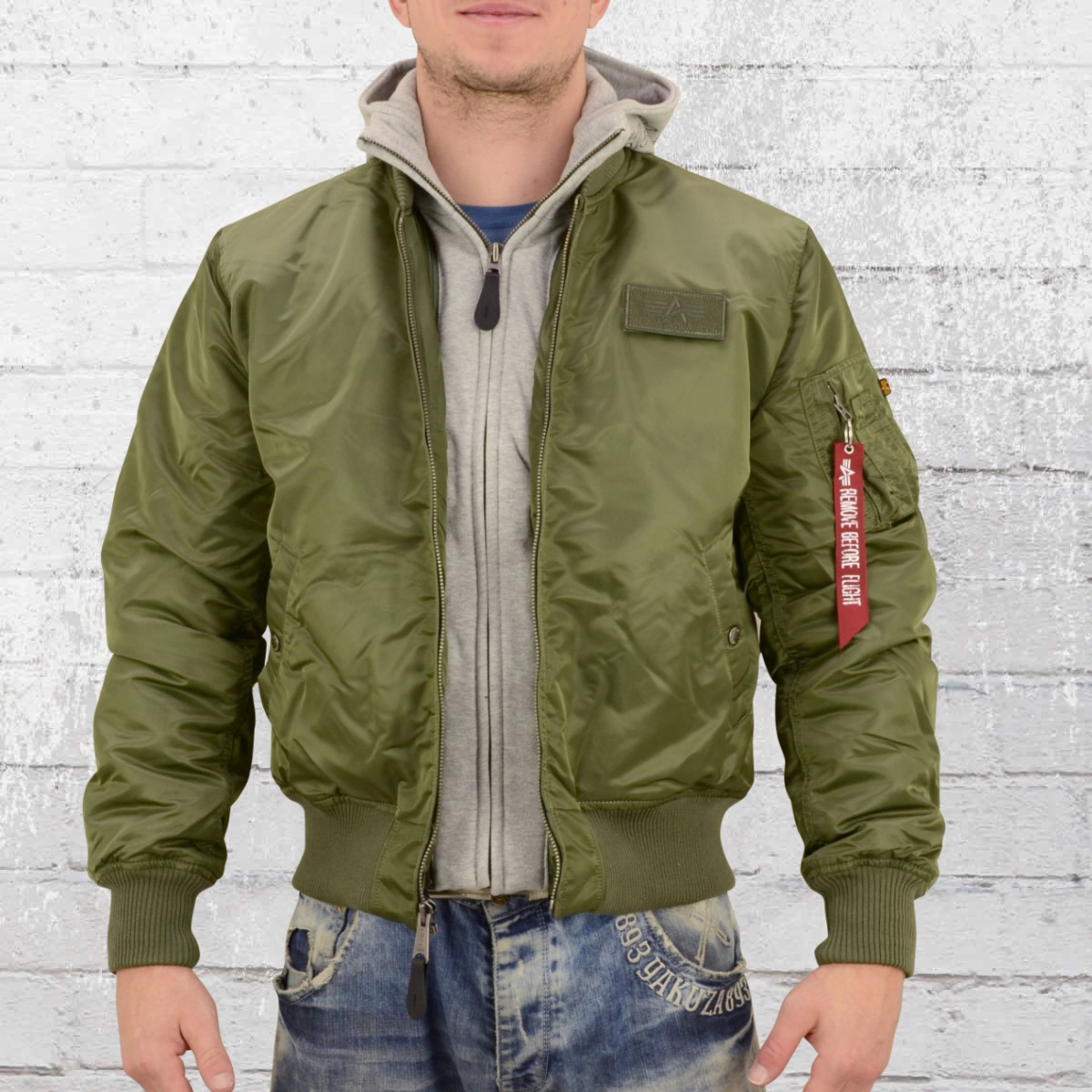 D Tec Order Now Alpha Industries Mens Bomber Jacket Ma1 D Tec Sage Green