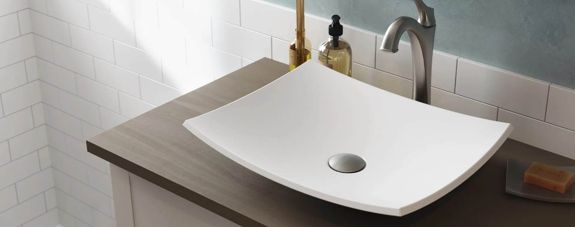 Kraus Bathroom Sinks Vessel Undermount Semi Recessed Etc
