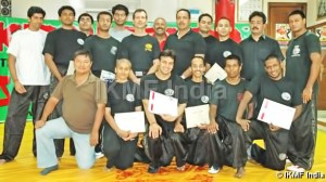 Guru Franklin Joseph with Grand Master Avi Moyal and India Chief Instructor Sir Vicky Kapoor training in one of the Krav Maga Civilian Instructor Course held on September 2007 in New Delhi