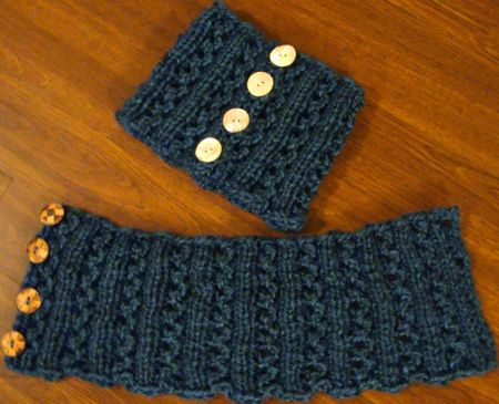 Knitting Pattern For Toddler Neck Warmer : Lace Rib Neckwarmer