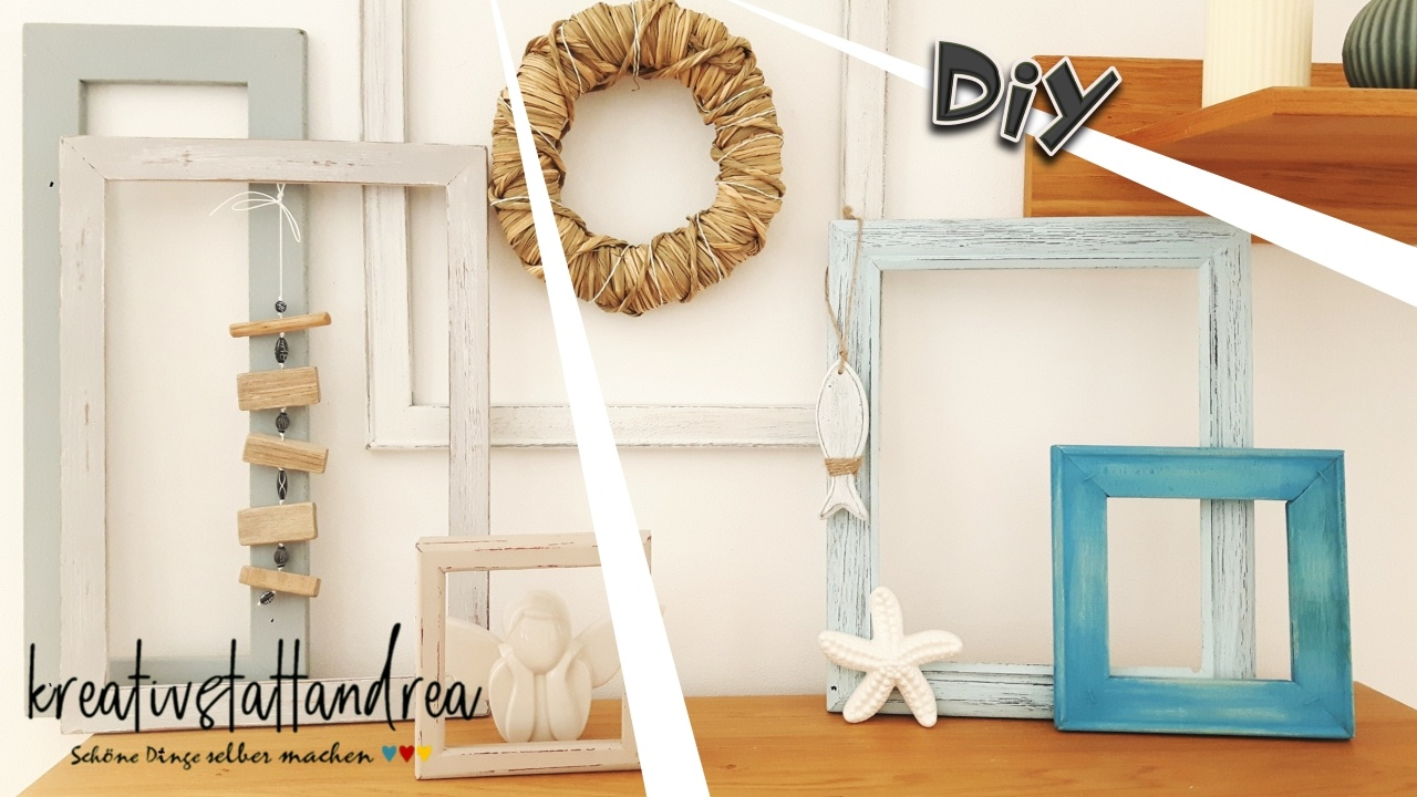 Diy Bettgestell Diy – Deko Bilderrahmen Shabby Chic / Landhausstil