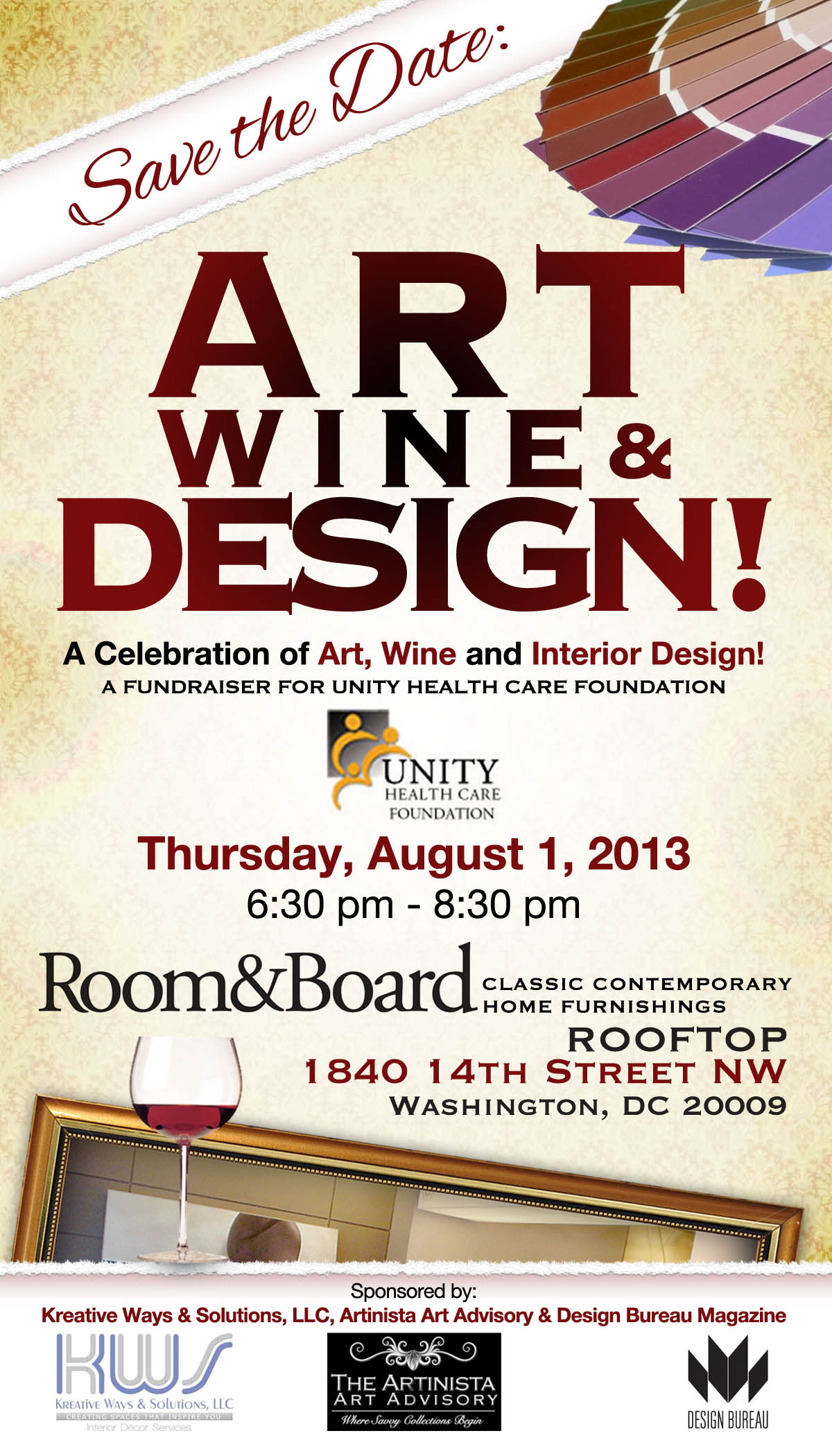 Design Bureau Llc Save The Date Art Wine Design August 1st Kreative