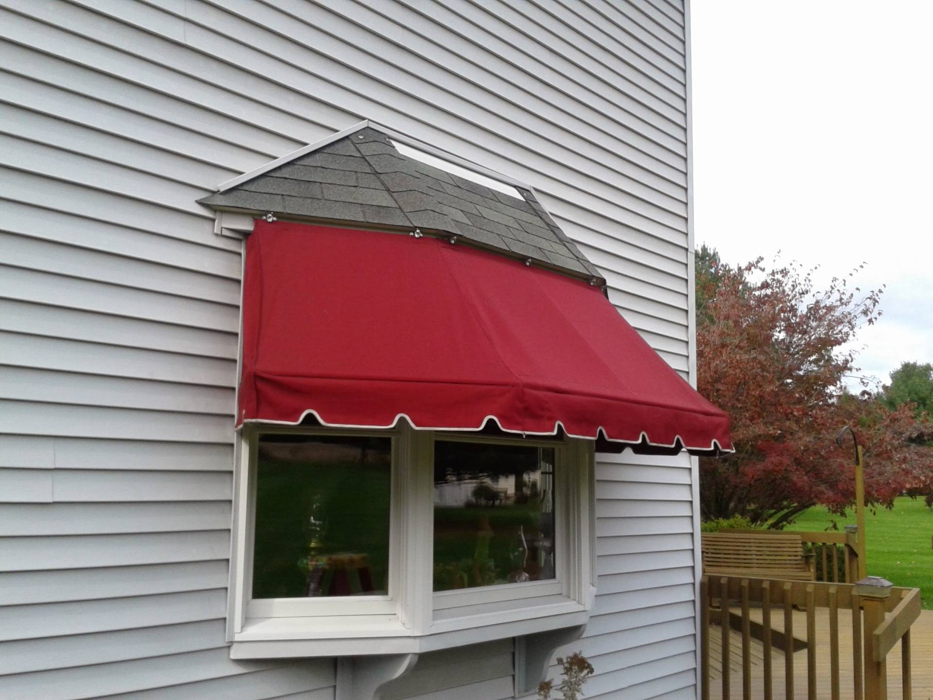 Window Canopy Bay Window Awning Kreider S Canvas Service Inc
