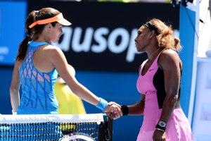 Ana Ivanovic and Serena Williams in Australian Open