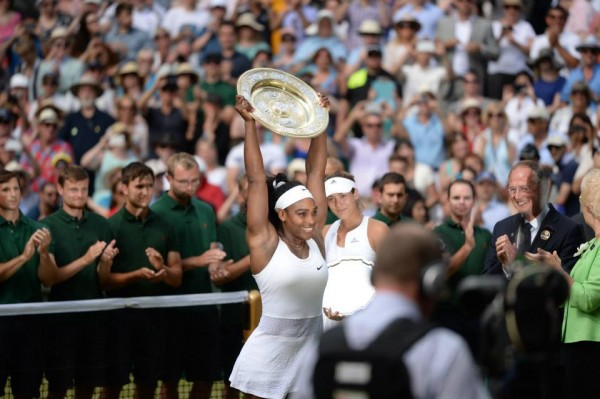 Serena Williams Shrugs off Muguruza Challenge to Her Sixth Victory at Wimbledon