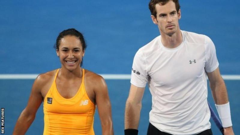 Andy Murray mix doubles match