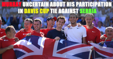 Murray Uncertain About His Participation in Davis Cup Tie against Serbia