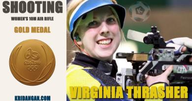 Gold medalist-Virginia Thrasher