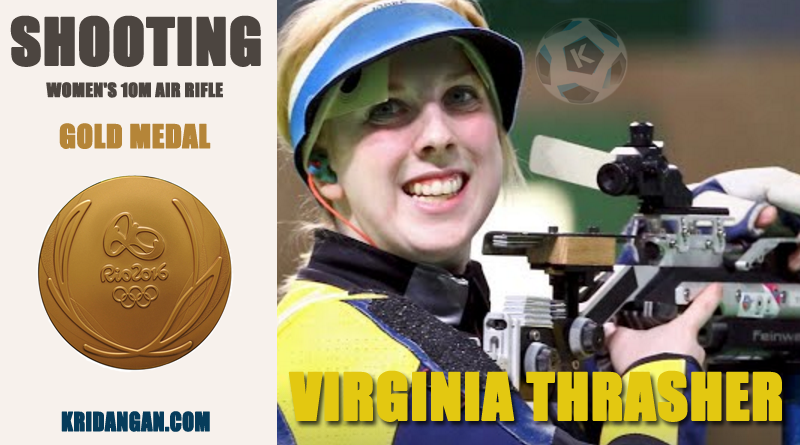 Gold medalist-Virginia Thrasher