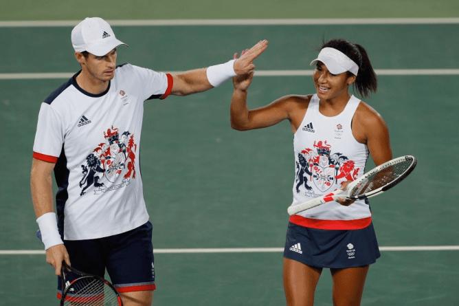 Andy Murray and Heather Watson