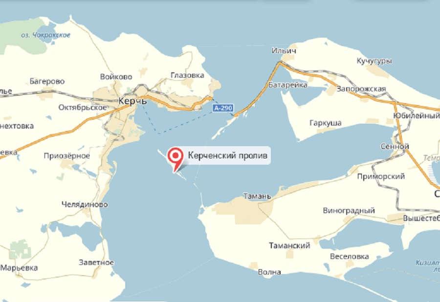 Керченского мост где находится