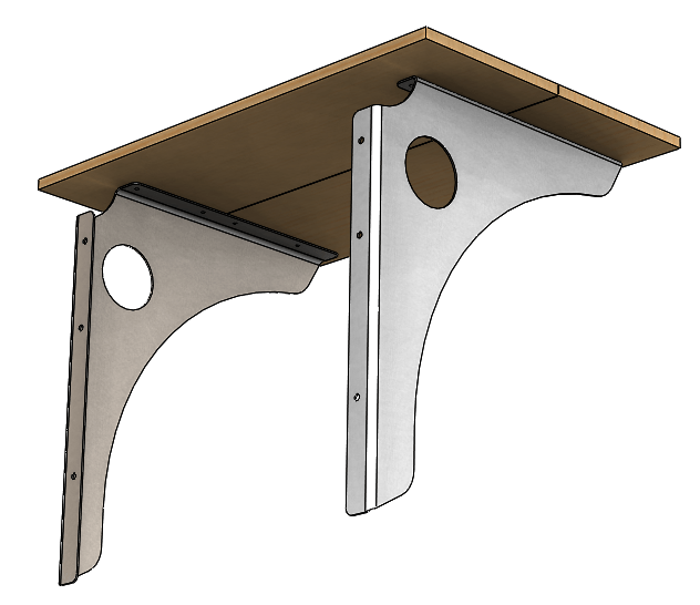 Simple Wall Mounted Standing Desk Pc Tower Bracket