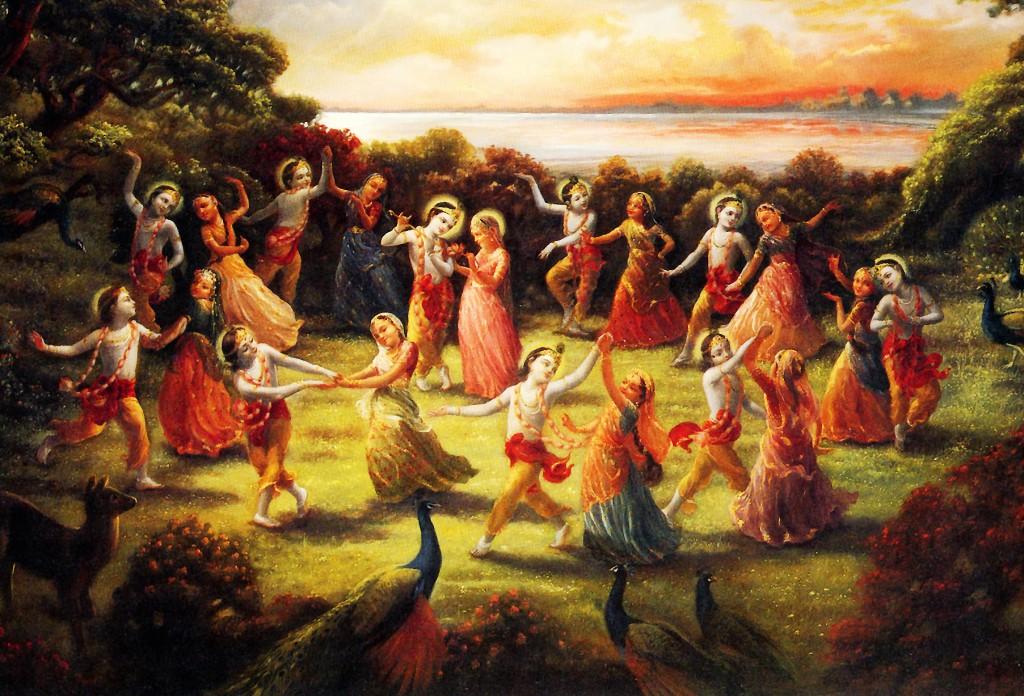 Lord Krishna With Gopis 3d Wallpaper The Spiritual World Krishna Org