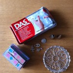 Das air-drying clay and stamps