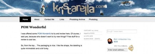 kristarella.com in 2008