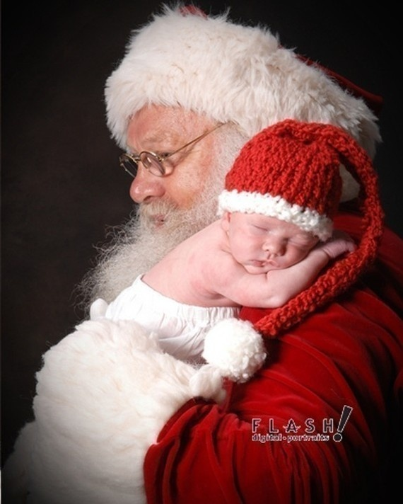 Toddler Kissing Newborn 10 Christmas Picture Ideas With Santa Festive Santa