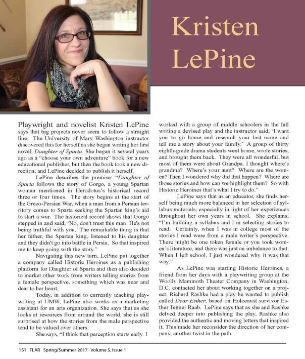 Kristen LePine in FLAR Spring 2017_Page_1