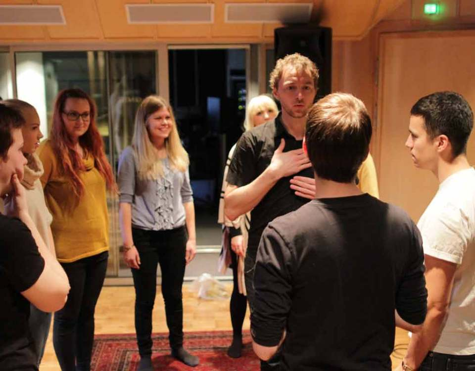 Workshop with A cappella group in Helsinki, Finland
