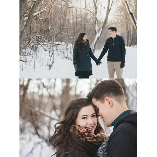 Medium Crop Of Winter Engagement Photos