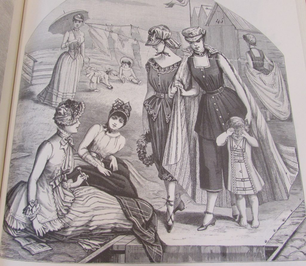 Bath Bazar 19th Century Bathing Costumes From Harpers Bazaar
