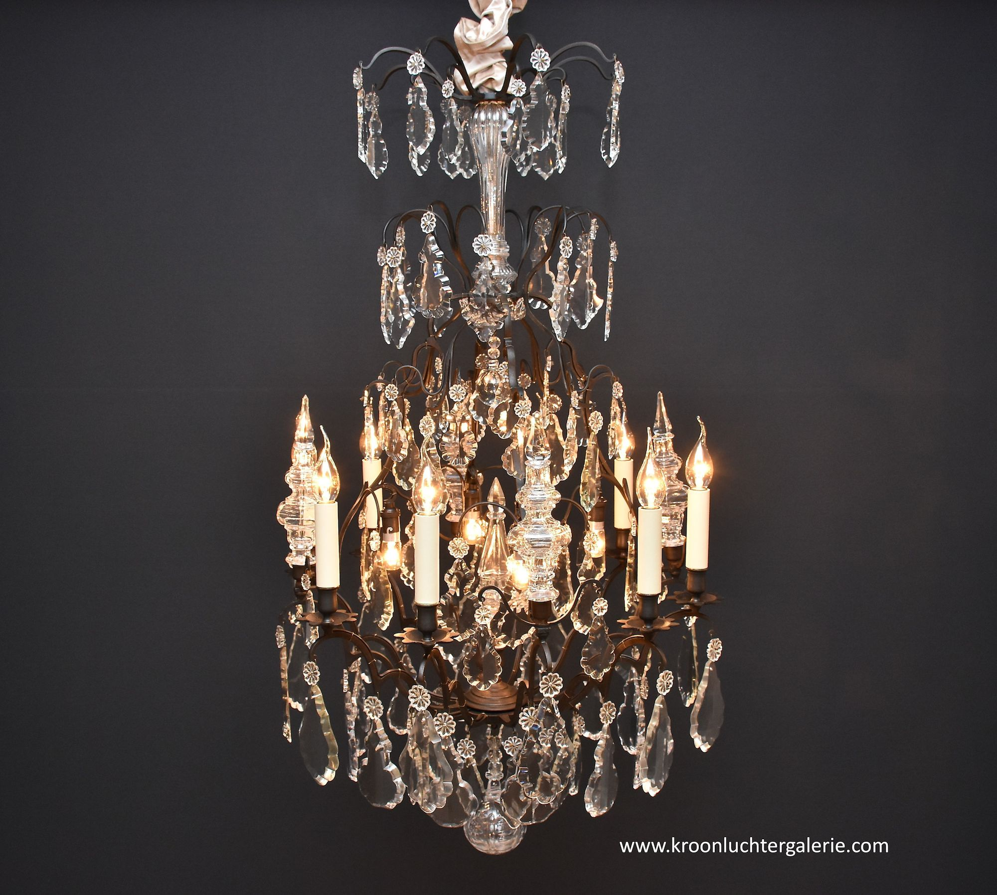 Lustre Cage Antique French Chandelier