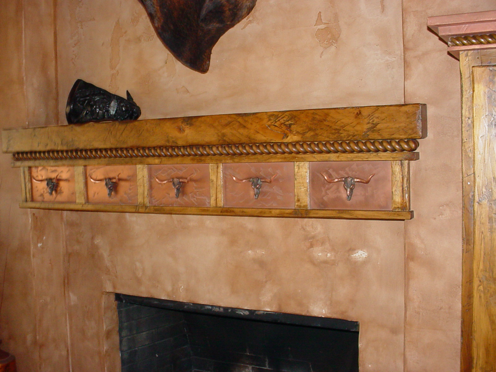 Copper Fireplace Mantel Copper Moldings Copper Fireplace Mantle Kropf Craft Cabinets