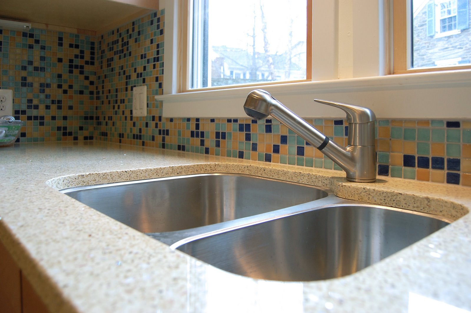 Safest Countertops Recycled Glass Environmental Material Eco Friendly