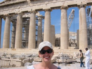 Lisa at the Acropolis