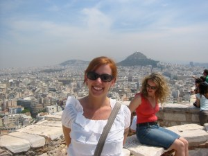 Lisa Overlooking Athens from the Acropolis