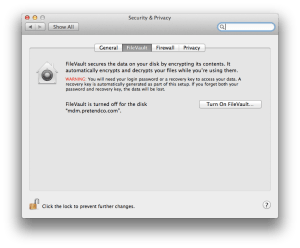 Enable FileVault In Mountain Lion
