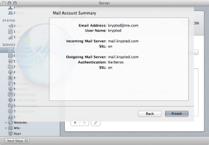 Mountain Lion Calendar Server :: Verify Settings
